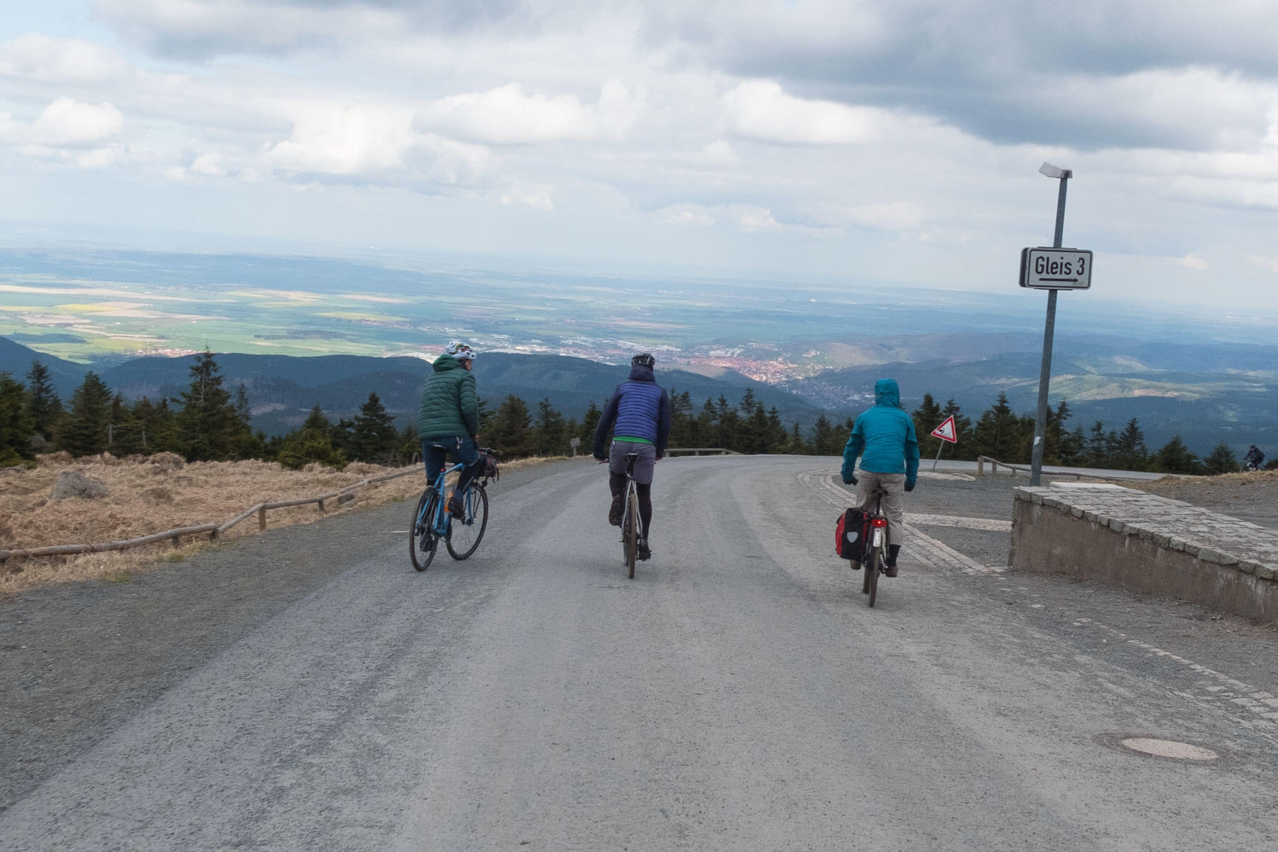 Riding the Brocken by bicycle.